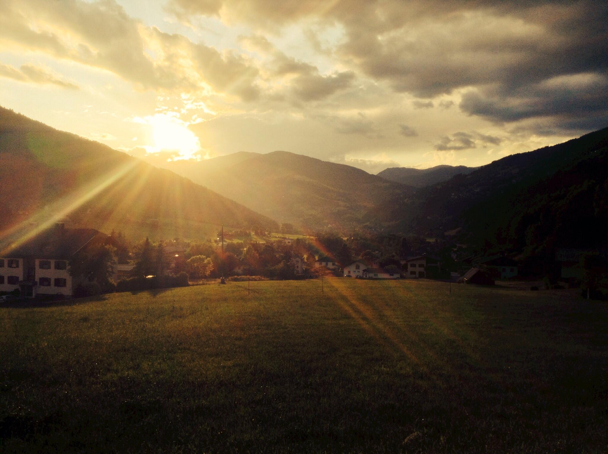 Sunset in Feld am See, Kärnten