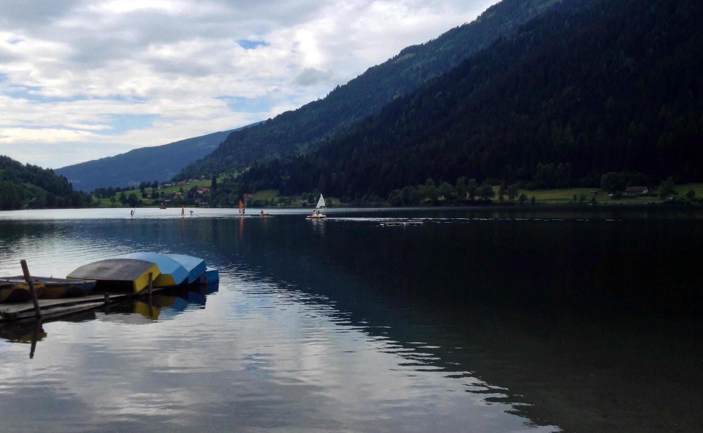 The Feldsee (lake) at Feld am See, Kärnten