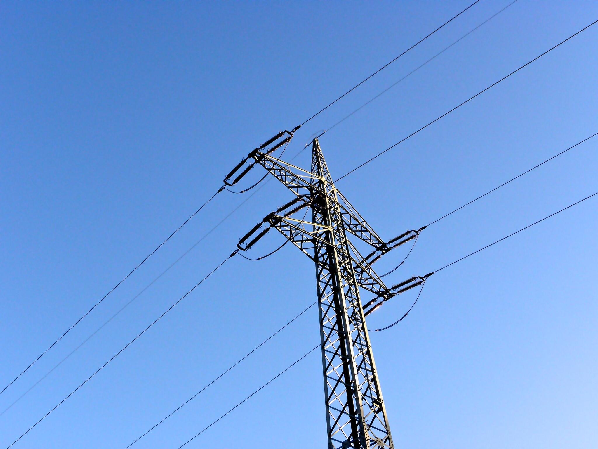 power line blue sky